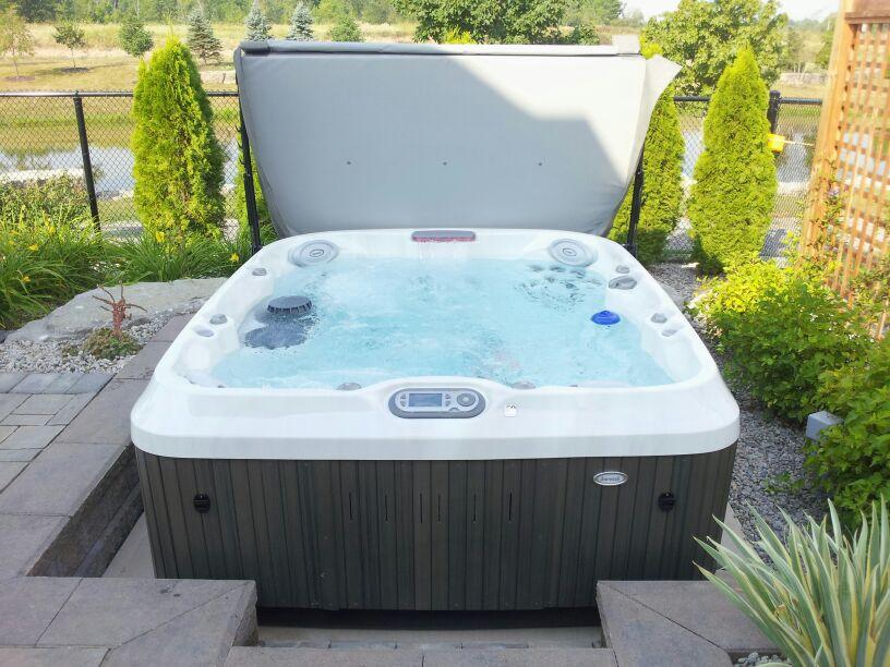 J-310 Jacuzzi Hot Tub installation in Ontario