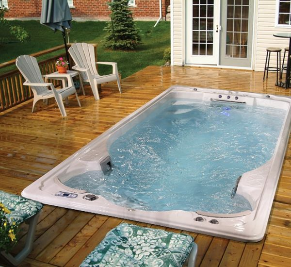 All Season Pool swim spa installation in Ontario