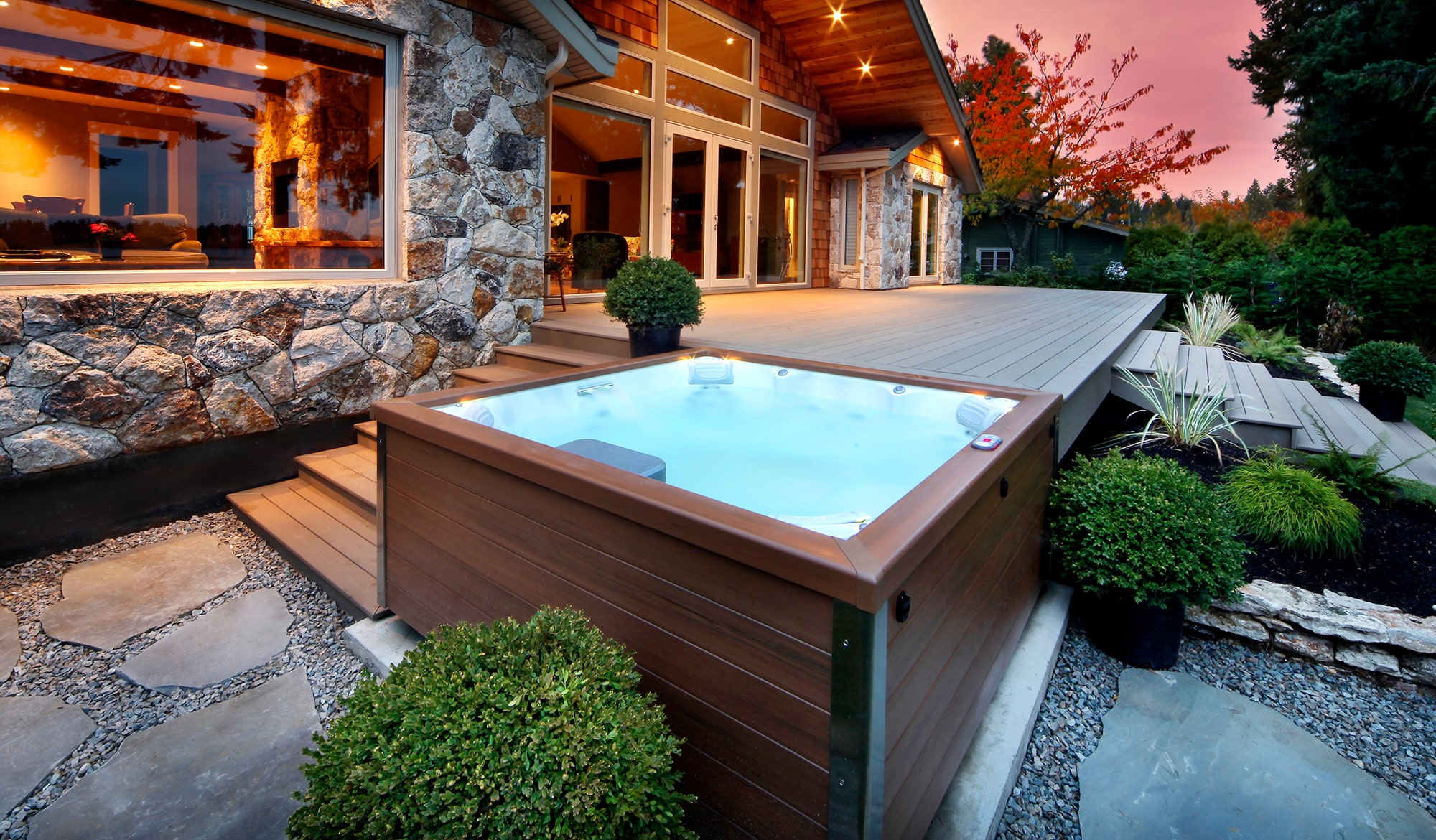 J-LX Collection hot tub sunset