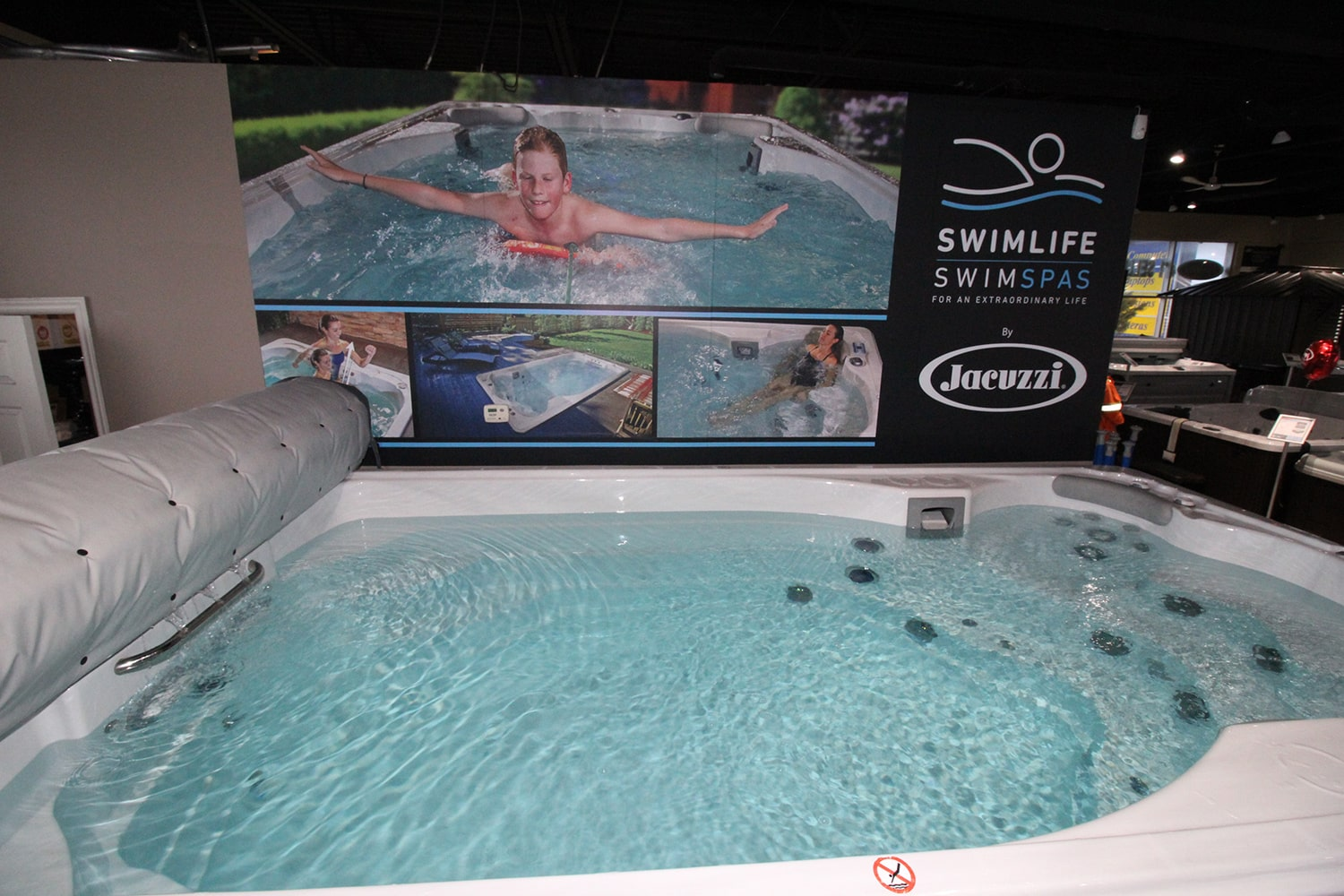 Jacuzzi Barrie All Season Pool Swim Spa Showroom