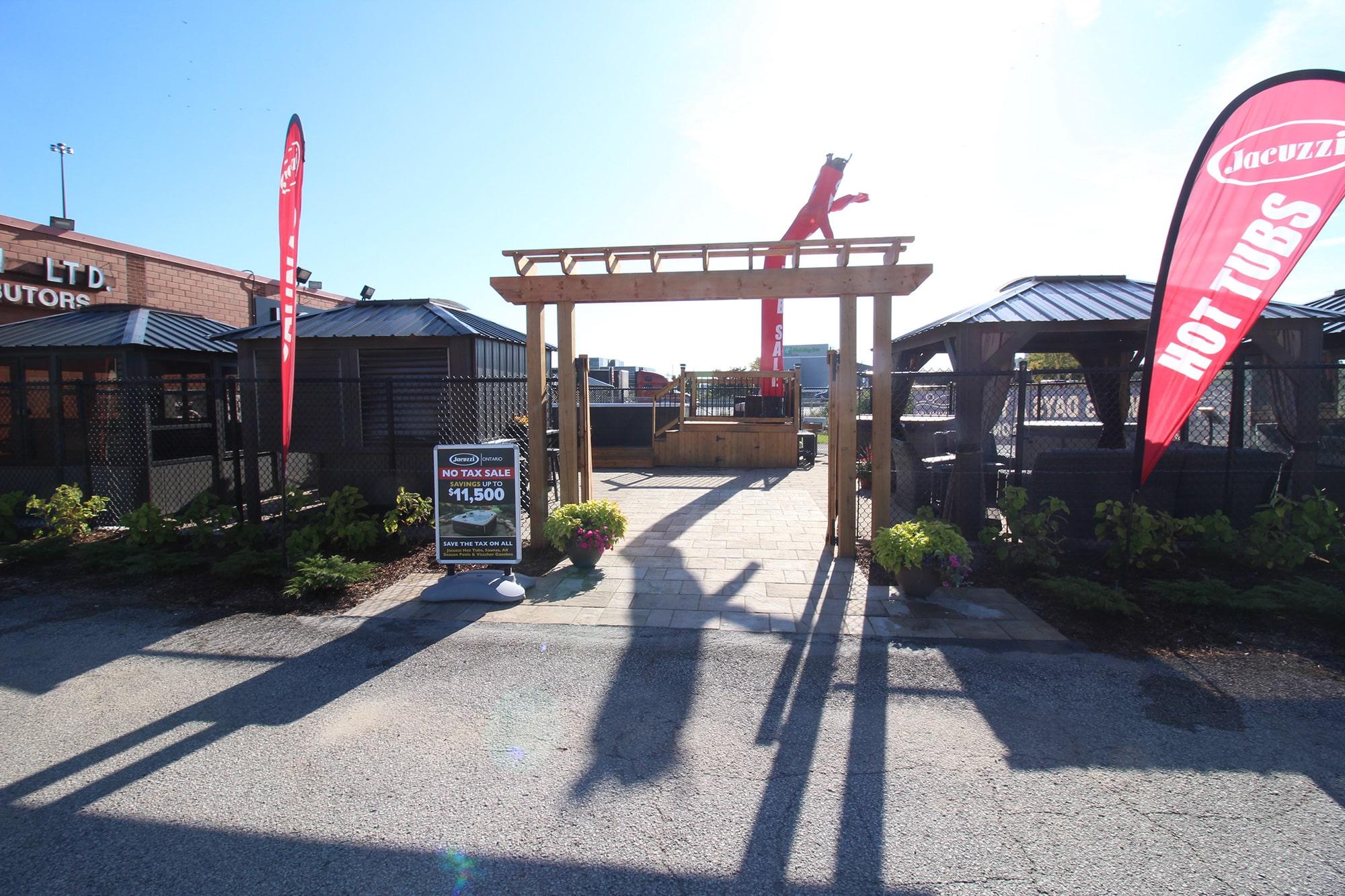 Jacuzzi Burlington Outdoor Showroom