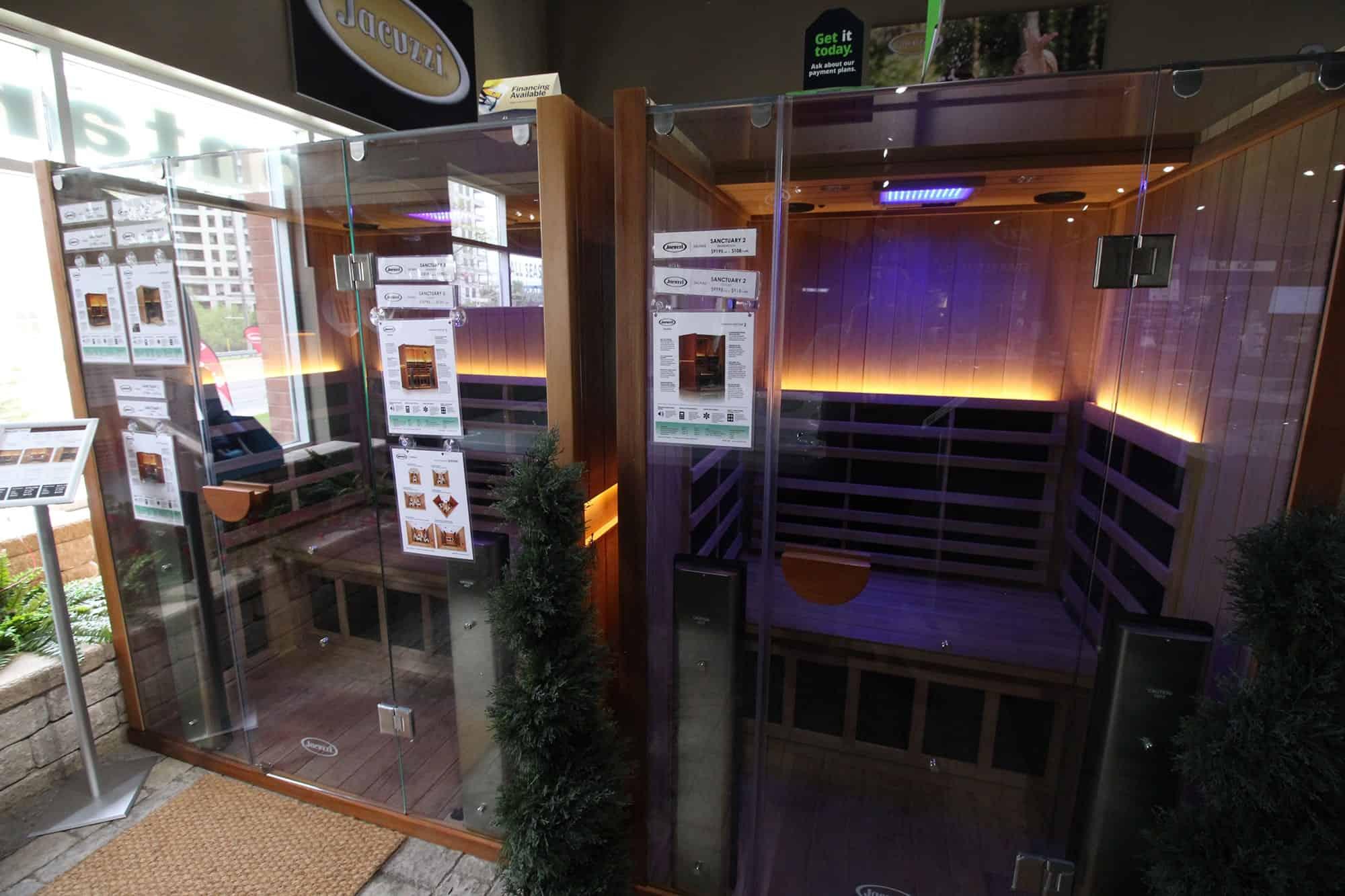 Jacuzzi Vaughan sauna showroom