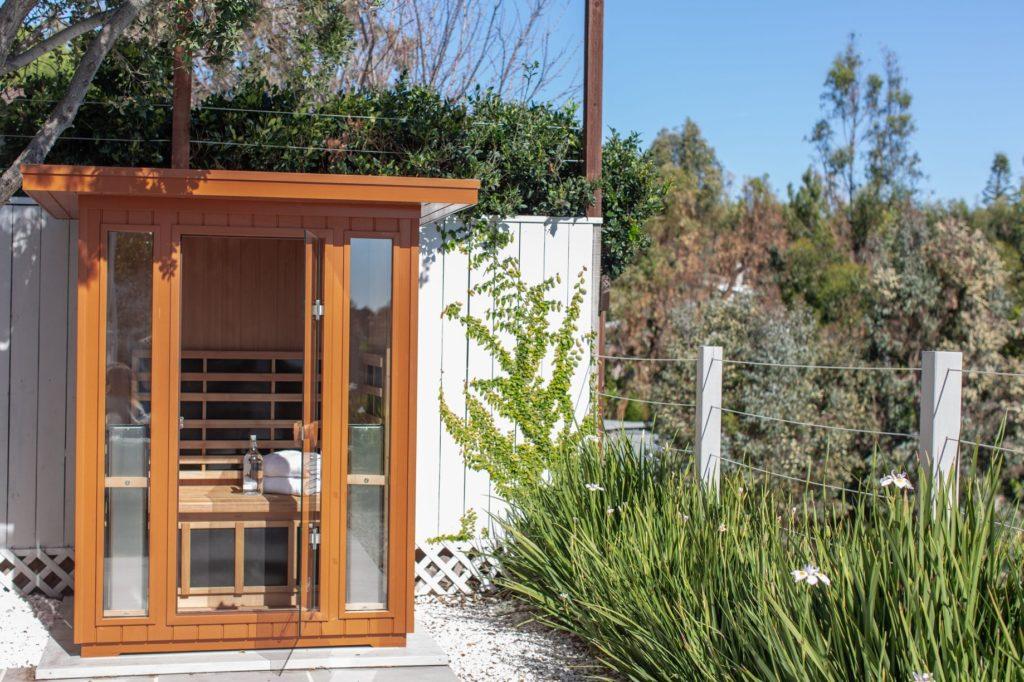 Outdoor saunas enhance the backyard oasis of any home