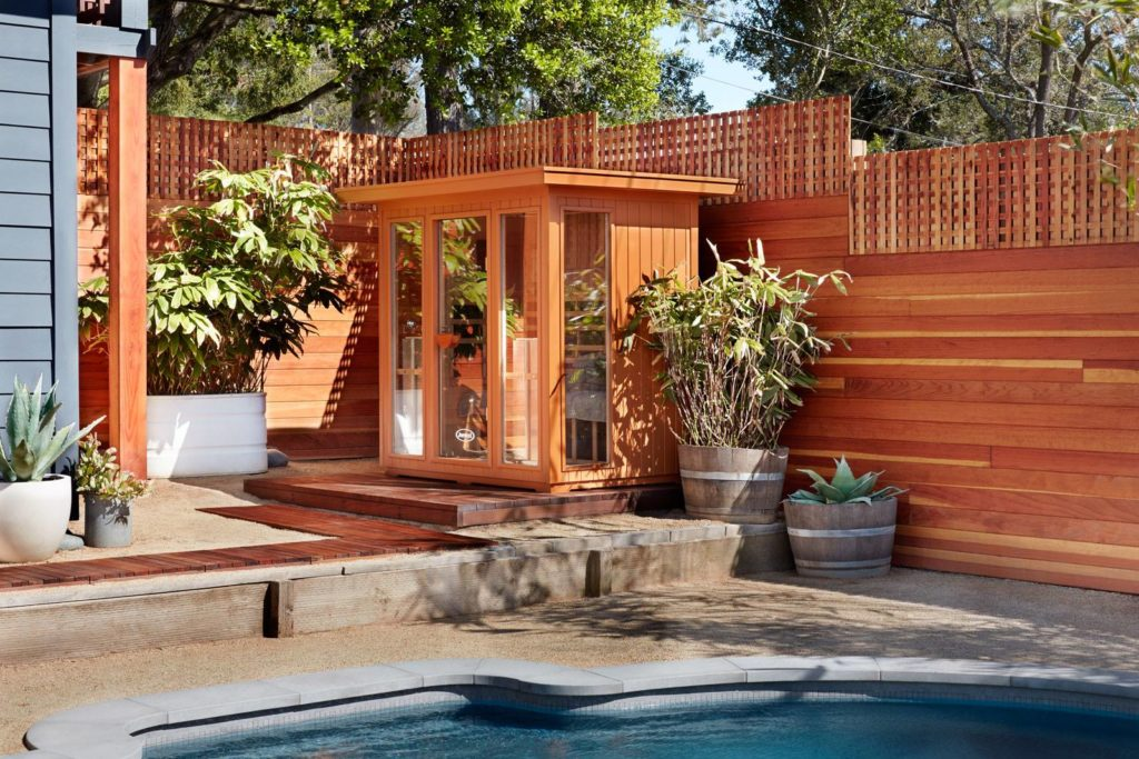 Outdoor Jacuzzi Sauna Installation in a London Backyard