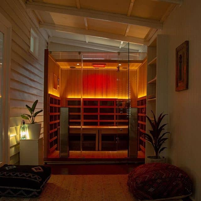 London family transforms their home with an infrared sauna.