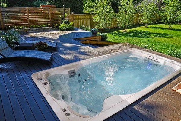 All Season Pool swim spa installation in Ontario