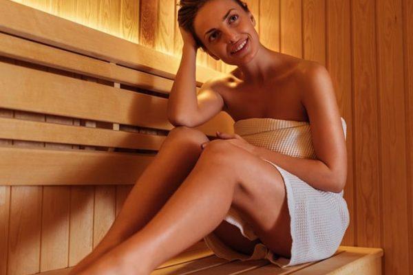 woman in sauna Ontario